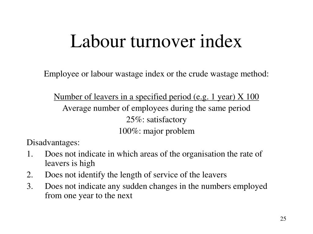Labour turnover index
