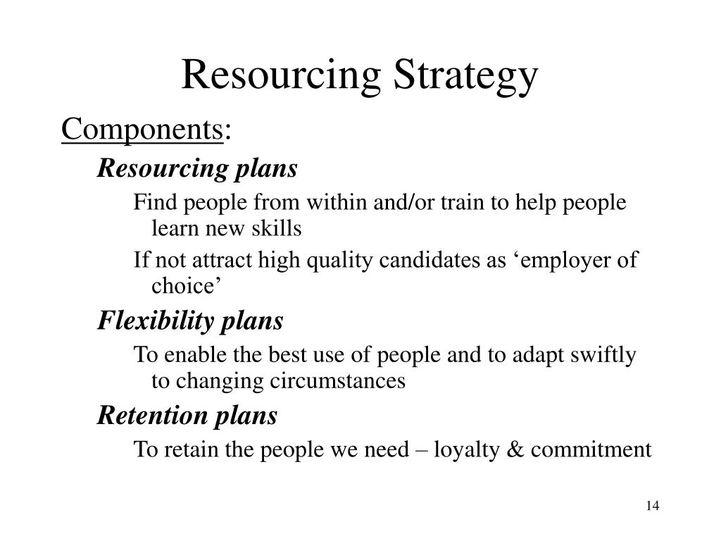 Resourcing Strategy