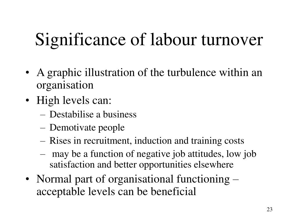 Significance of labour turnover