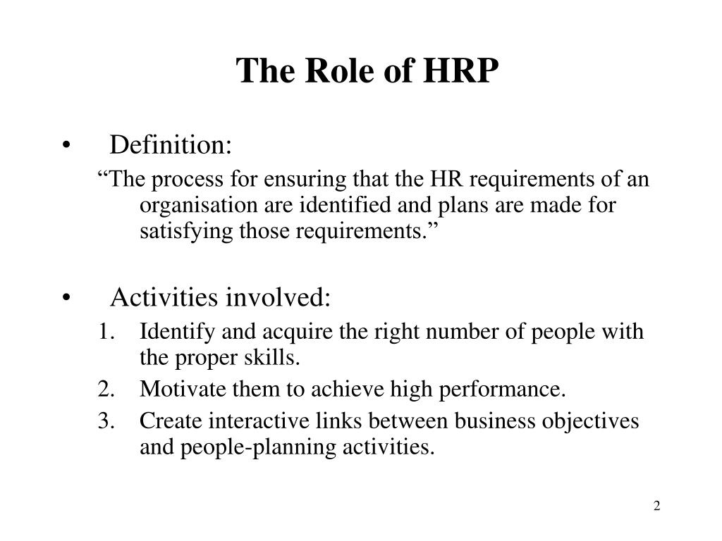 The Role of HRP