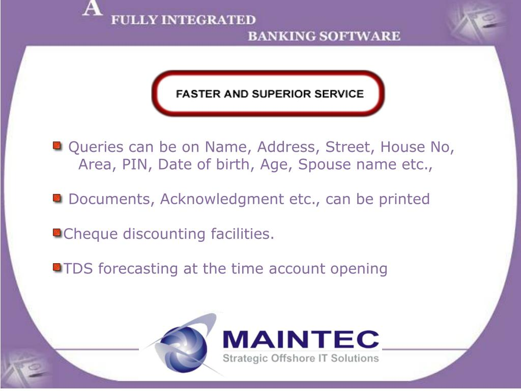 Queries can be on Name, Address, Street, House No,