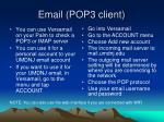 email pop3 client