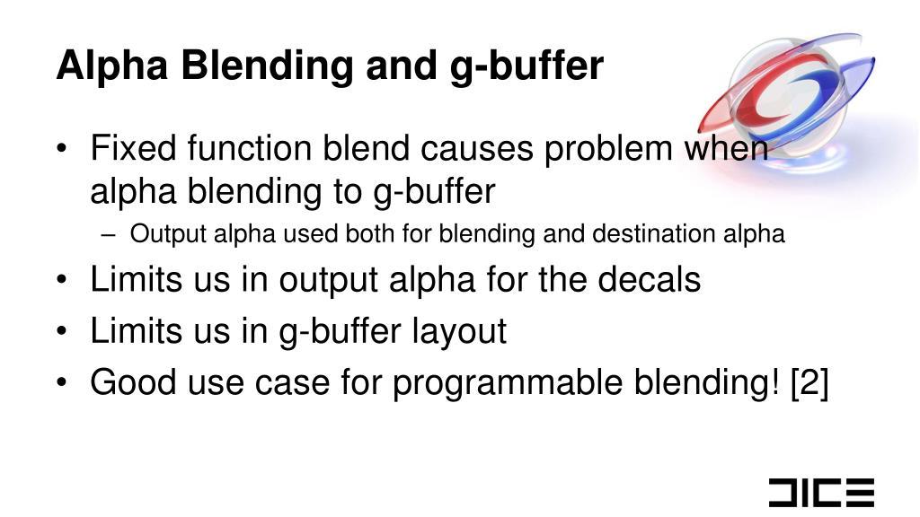 Alpha Blending and g-buffer