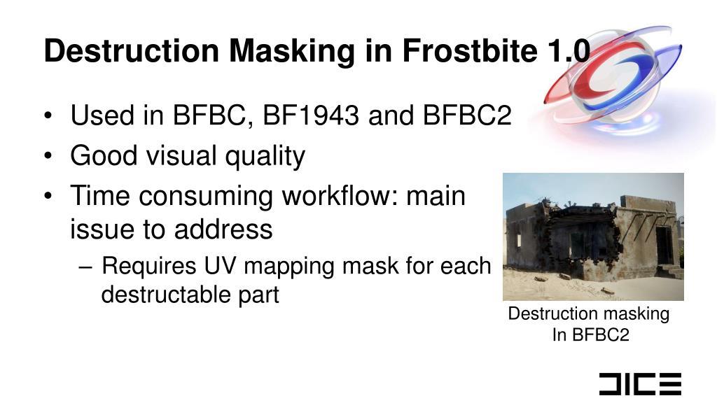 Destruction Masking in Frostbite 1.0