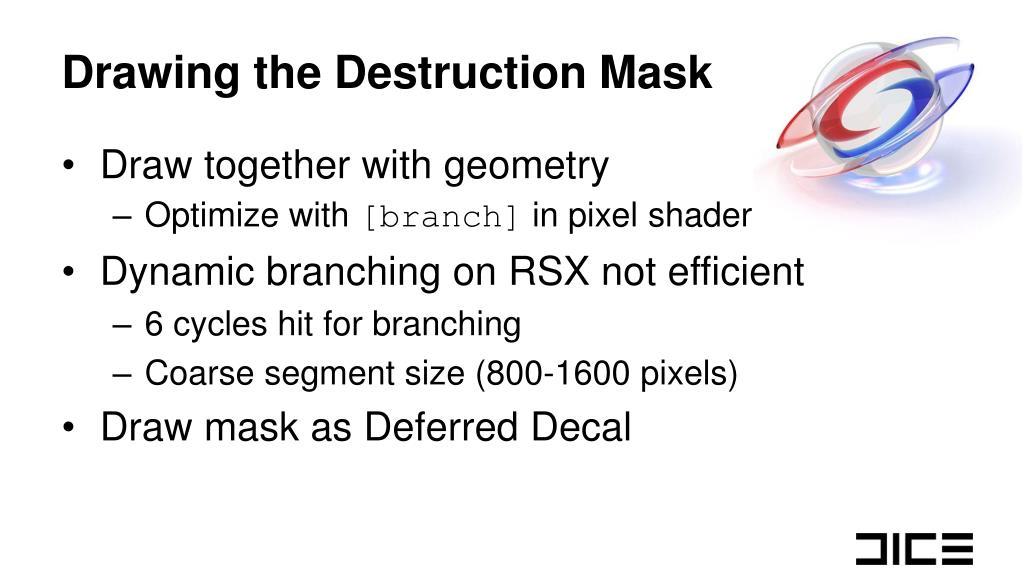 Drawing the Destruction Mask
