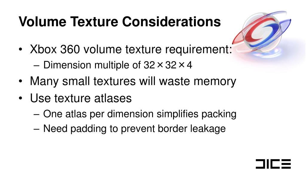 Volume Texture Considerations