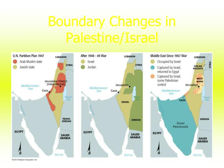 Boundary Changes in Palestine/Israel