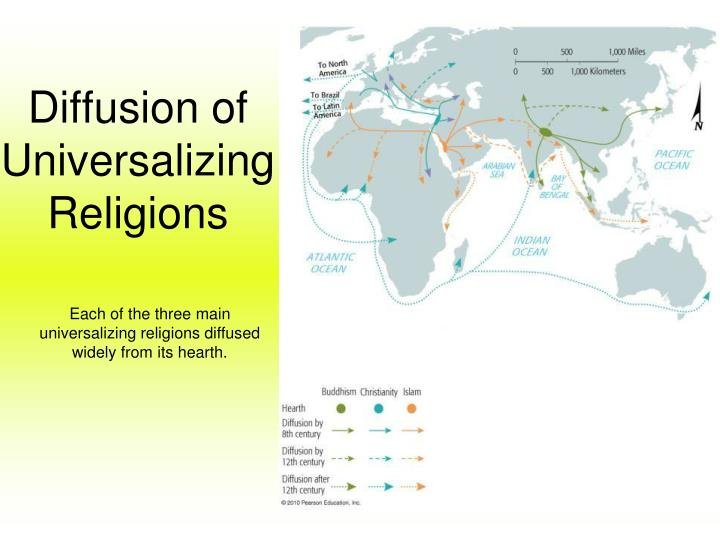 Diffusion of Universalizing Religions