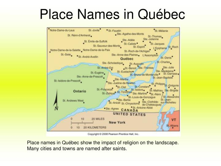 Place Names in Québec
