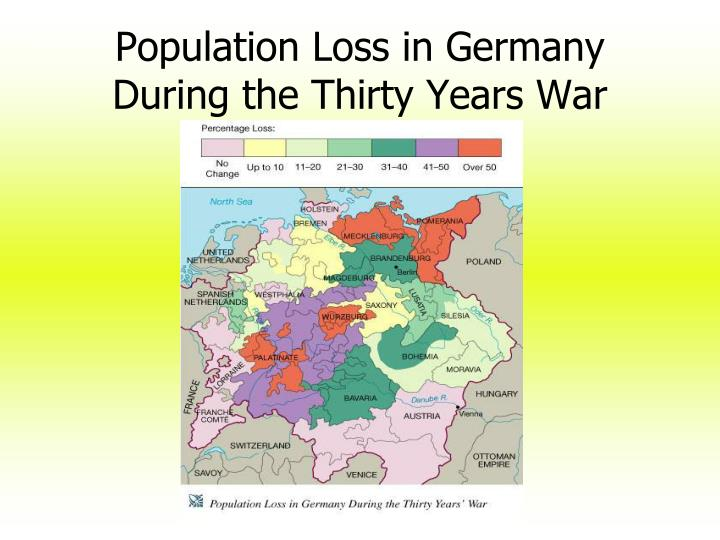 Population Loss in Germany During the Thirty Years War