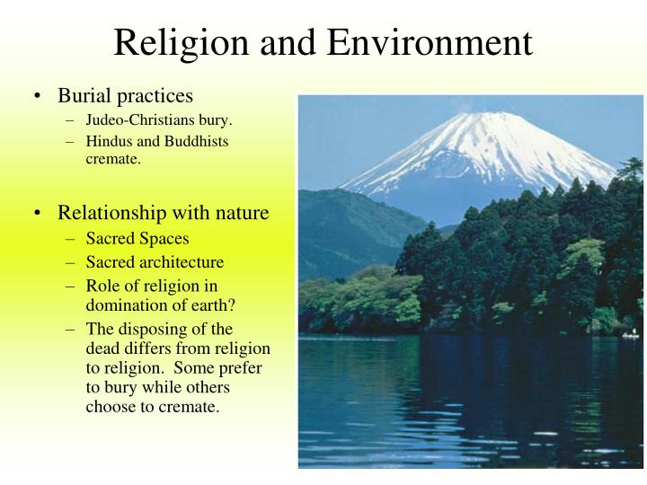 Religion and Environment