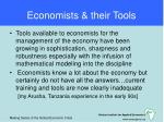 economists their tools