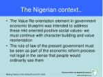the nigerian context
