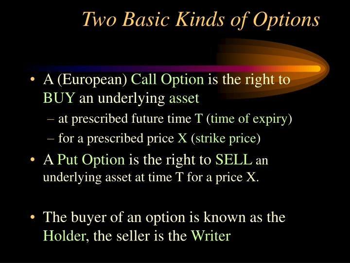 Two Basic Kinds of Options