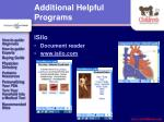 additional helpful programs