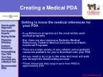 creating a medical pda20