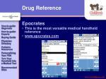 drug reference