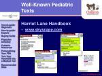 well known pediatric texts