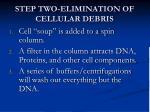step two elimination of cellular debris