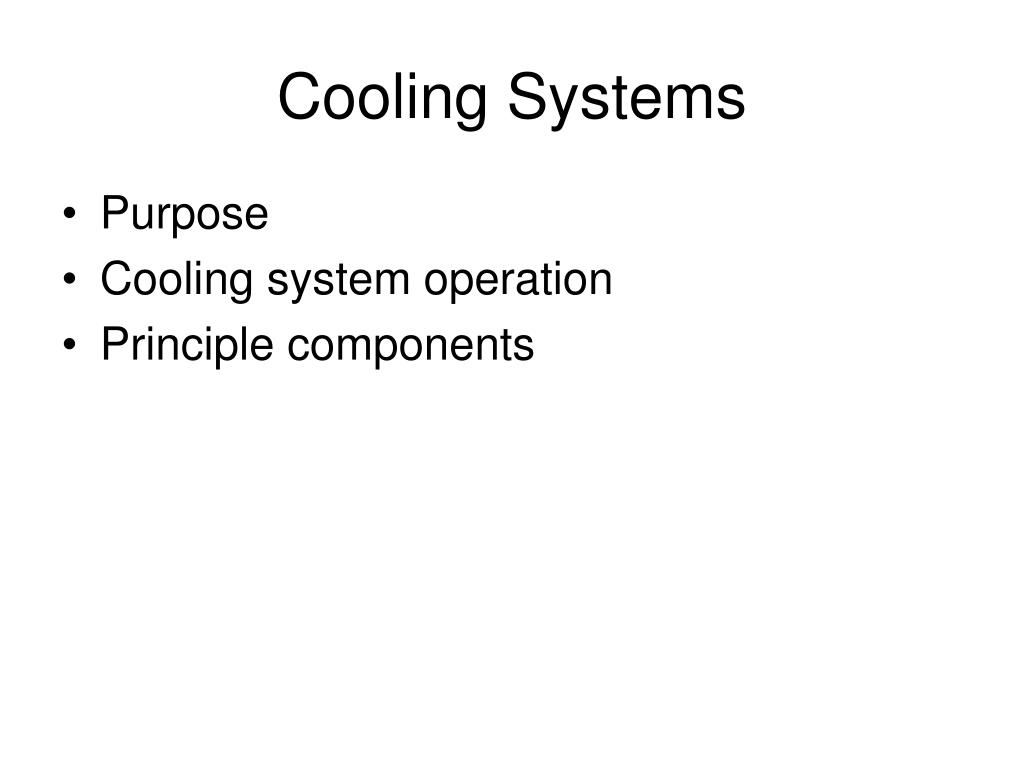 cooling systems l.