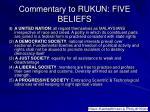 commentary to rukun five beliefs