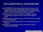 declaration to rukunegra