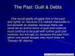 the past guilt debts