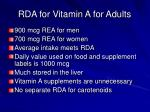 rda for vitamin a for adults