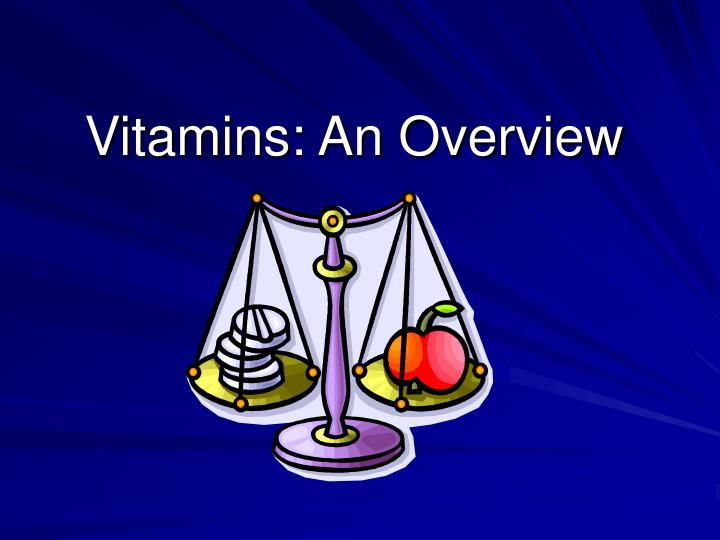 vitamins an overview