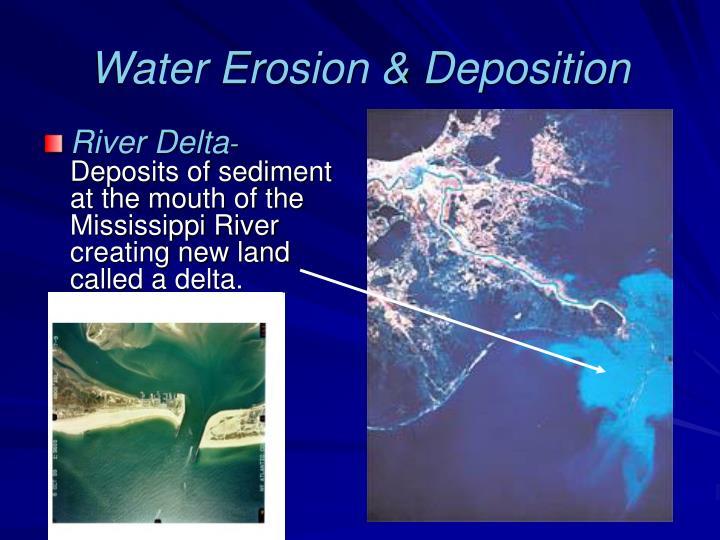 Water Erosion & Deposition