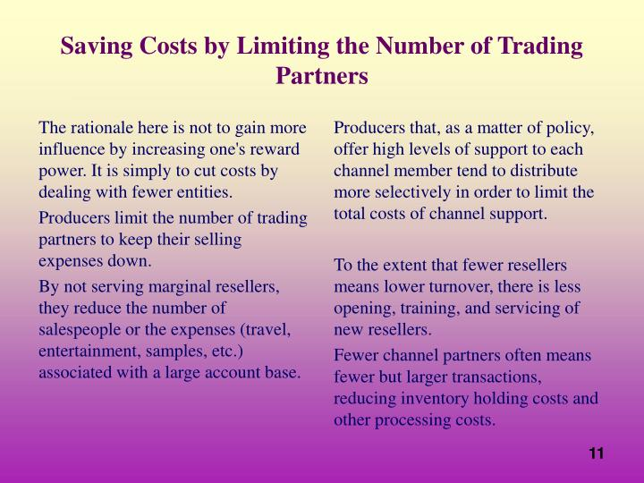 The rationale here is not to gain more influence by increasing one's reward power. It is simply to cut costs by dealing with fewer entities.