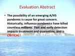 evaluation abstract