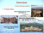 overview clinical testing locations