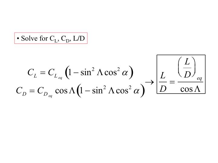 • Solve for C