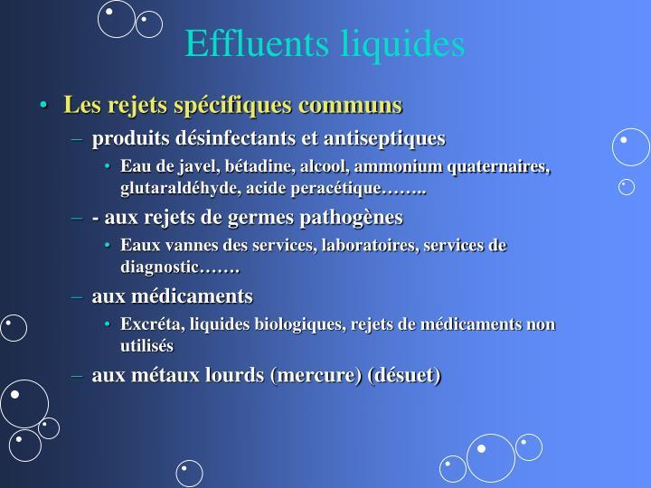 Effluents liquides