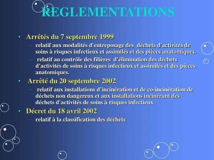 REGLEMENTATIONS