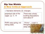 rip van winkle a new critical approach2