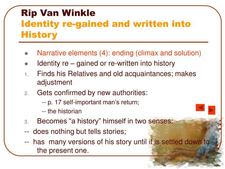 rip van winkle history