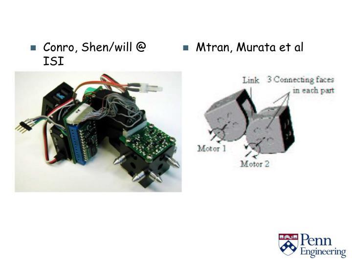 Conro, Shen/will @ ISI