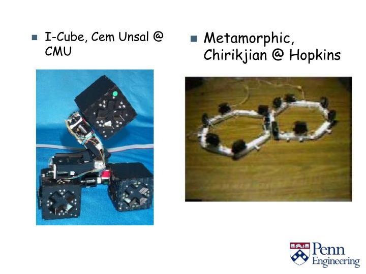 I-Cube, Cem Unsal @ CMU