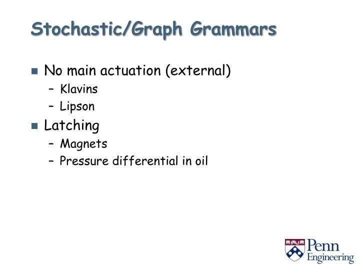 Stochastic/Graph Grammars