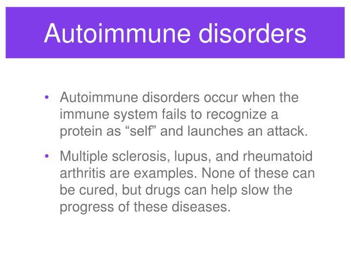 Autoimmune disorders