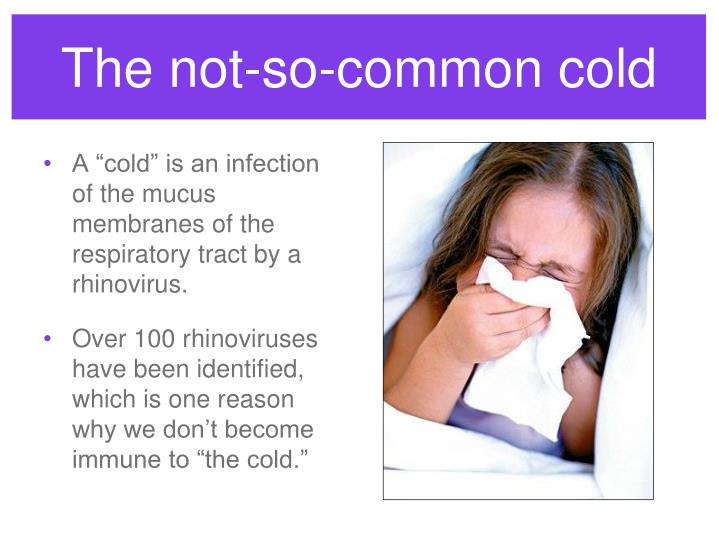 The not so common cold