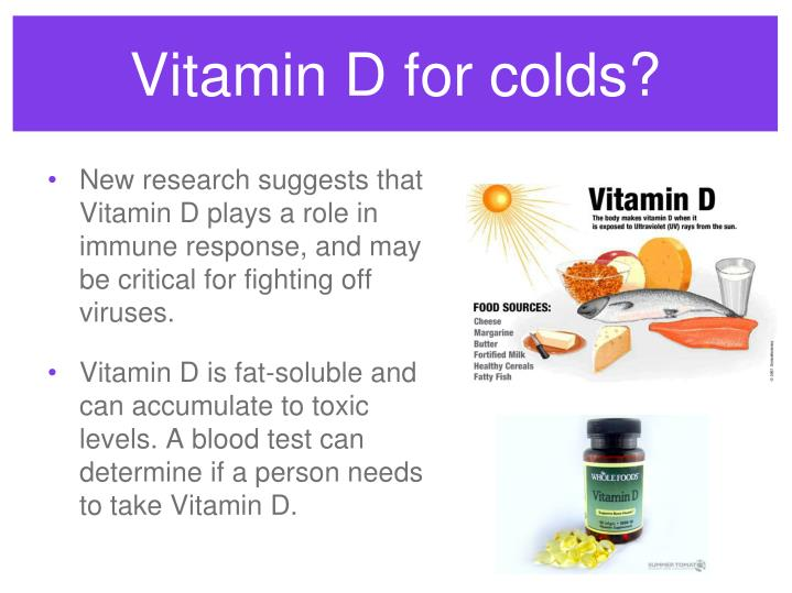 Vitamin D for colds?