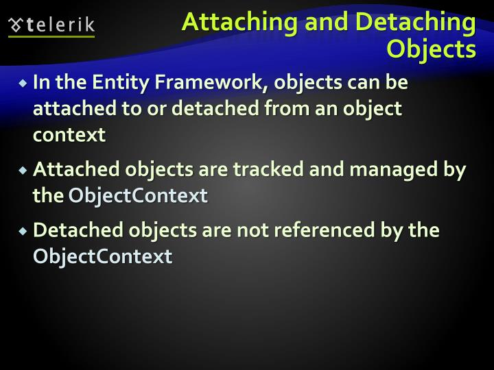 Attaching and Detaching Objects