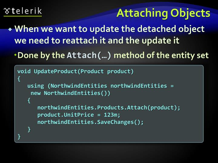 Attaching Objects