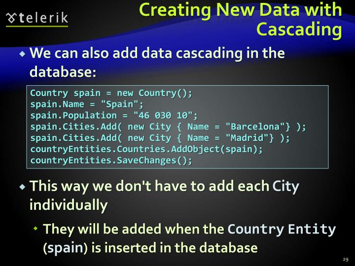 Creating New Data with Cascading