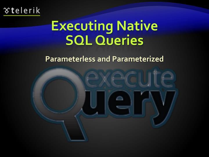Executing Native SQL Queries