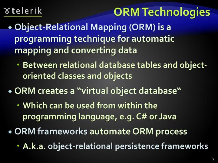 ORM Technologies