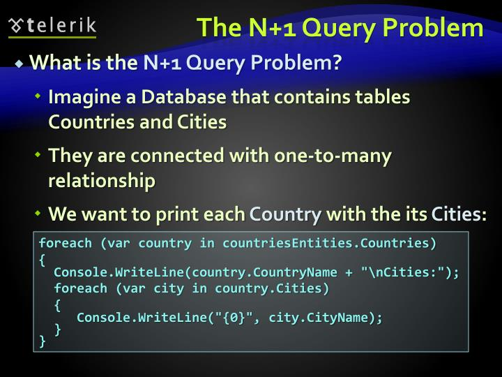 The N+1 Query Problem